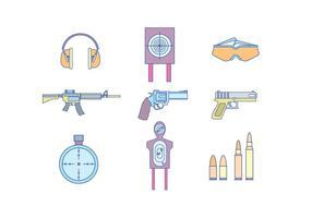 Pistolen en schietuitrusting vector