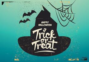 Witch's Hat Truc-or-Treat Vector