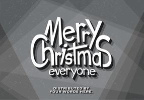 Klassieke Film Vrolijke Kerstmis Vector