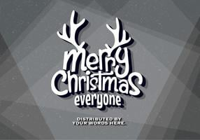 Oude Movie Christmas Wishes Vector