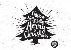 Heb een Holly Jolly Christmas Tree vector