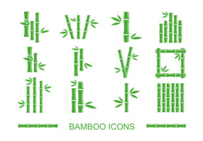 Bamboe Pictogrammen Vector