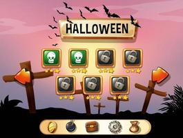 screensaver halloween thema game sjabloon
