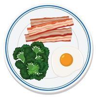 luchtfoto van eten op het bord