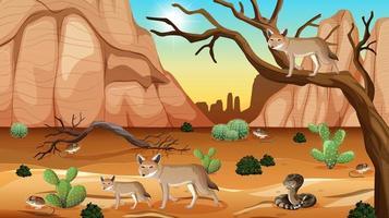 wild woestijnlandschap overdag