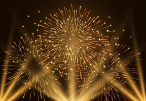 gouden vuurwerk feestelijke achtergrond