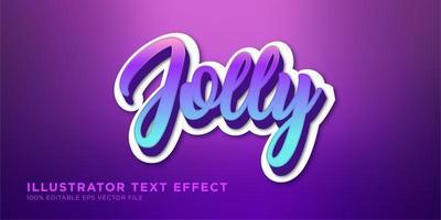 vrolijk verloop teksteffect ontwerp vector