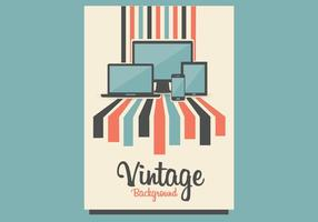 Tech Vintage Achtergrond Vector