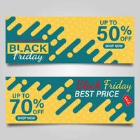 zwarte vrijdag verkoop banner set vector