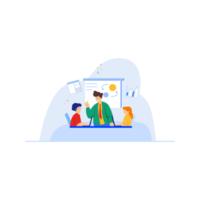 teamwerkvergadering in kantoor