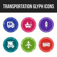 vervoer pictogramserie
