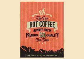 Premium kwaliteit koffie vector