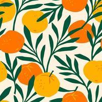 naadloze patroon met mandarijnen