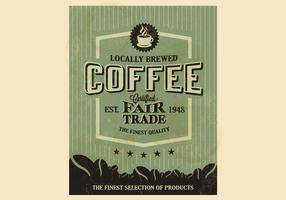 Bosrijke koffie vector
