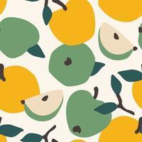 naadloze patroon met appels