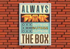 Denk buiten de doos vector