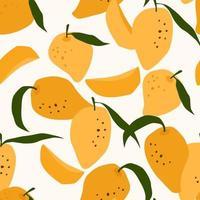 naadloze patroon met mango hand getrokken