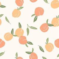 naadloze patroon met perziken