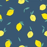 naadloze patroon met citroenen