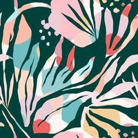artistieke naadloze patroon met abstracte bladeren