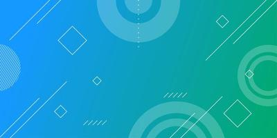 abstracte banner met kleurrijke gradiënt en vormen vector