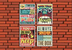Inspirerende Posters Vector