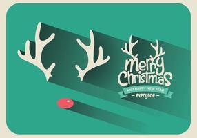 Rudolph kerst teken vector