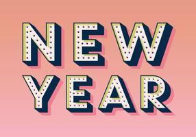 Marquee-Style Nieuwjaar Vector