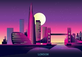 Vectorillustratie The Shard en The London Skyline vector