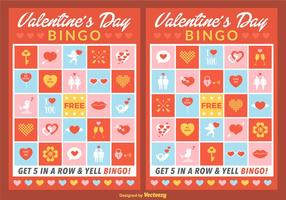 Vector Valentine Bingo Kaarten