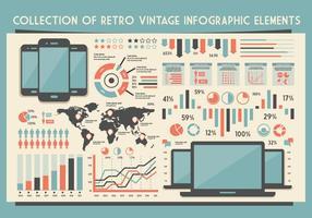 Gadget infographics vector