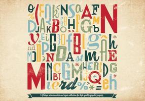 Kleurrijke Letters & Numbers Vector