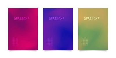 pastel holografische kaartenset vector