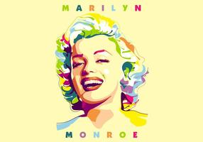 Marilyn Monroe - Holywood Life - Popart Portret vector