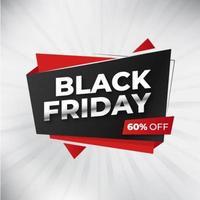 zwarte vrijdag geometrische vorm verkoop banner