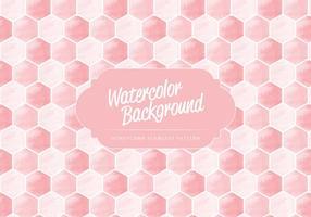 Vector Waterverf Honingraat Patroon