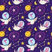 astronaut dieren naadloze patroon achtergrond vector