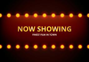 Hollywood lichten film teken sjabloon