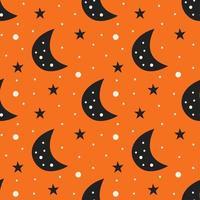 zwarte maan naadloze patroon achtergrond