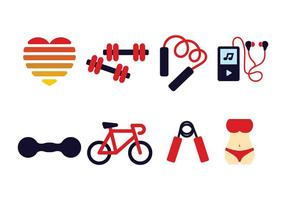 Fitness pictogram pack vector
