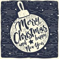 Gratis Kerst Vector Ball Typografie