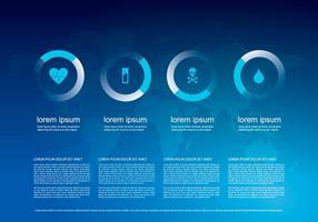 Hartslag infografisch sjabloon vector