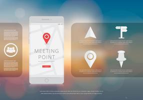 Mobiele applicatie bijeenkomst