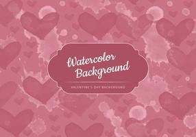 Vector Waterverf Harten Valentijnsdag Achtergrond
