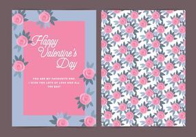 Vector Roses Valentijnsdagkaart