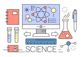 Vrije wetenschappelijke vectorelementen vector
