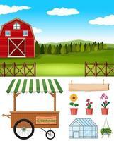 set boerderij elementen