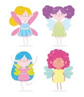 prinses met geplaatste vleugels