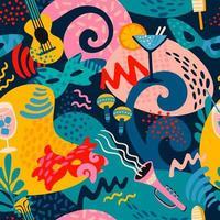 kleurrijke carnaval naadloze patroon vector