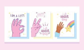 linkshandigen dag kaartenset